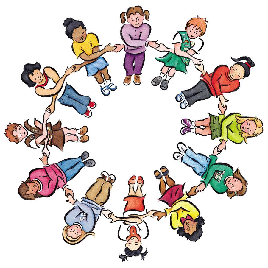 Cartoon of children in a circle