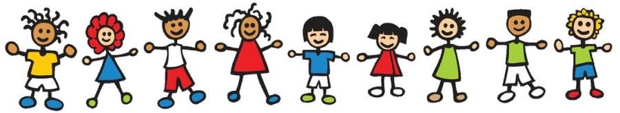 Cartoon image of children holding hands