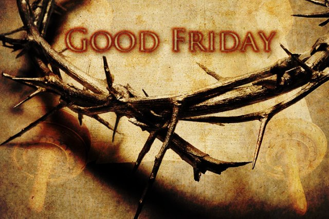 "An image of a crown of thorns with the text ""Good Friday"""