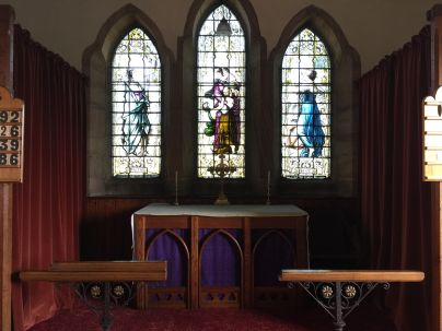 The altar at St Peter the Fisherman, Craster