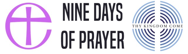 The text 'Nine days of prayer' with the Church of England and Thy Kingdom Come logos