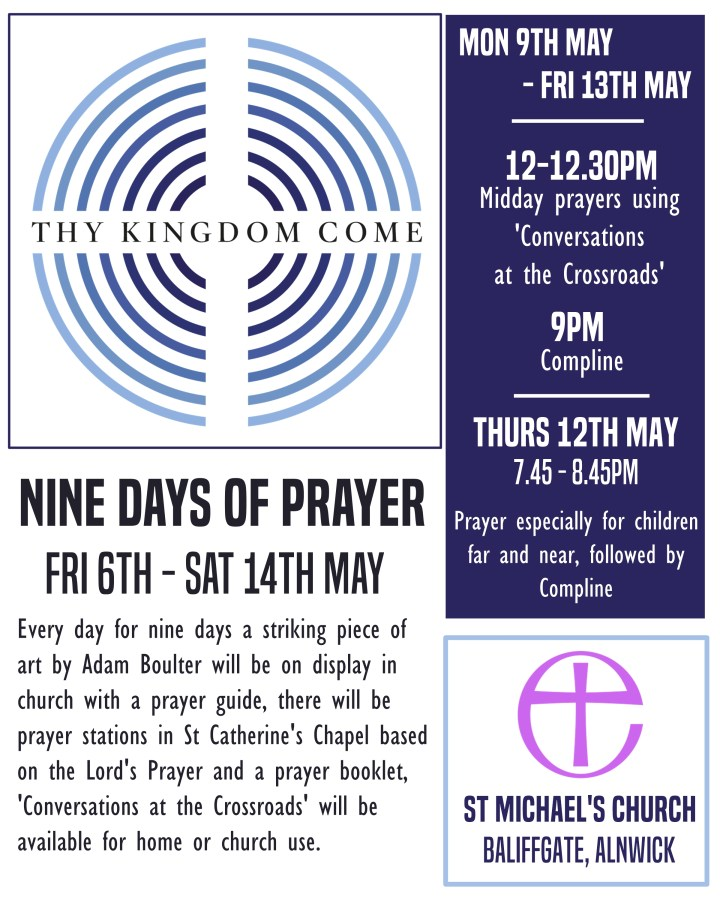 A poster presenting information about the Nine Days of Prayer at St Michael's Church