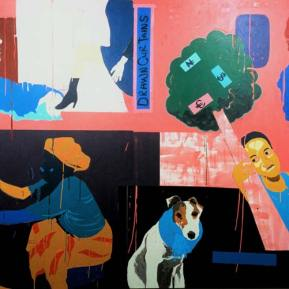 53First-class-Passenger-2-Acrylic-on--Canvas-Drawn-Curtains-200-x-300cm-2004