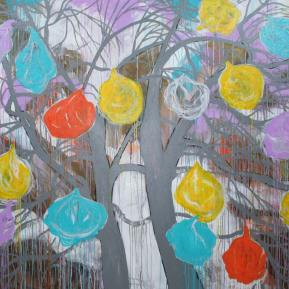 6Nostalgia-plastic-bags-in-trees-Acrylic-on-Canvas--160cm-x-150-cm-2016