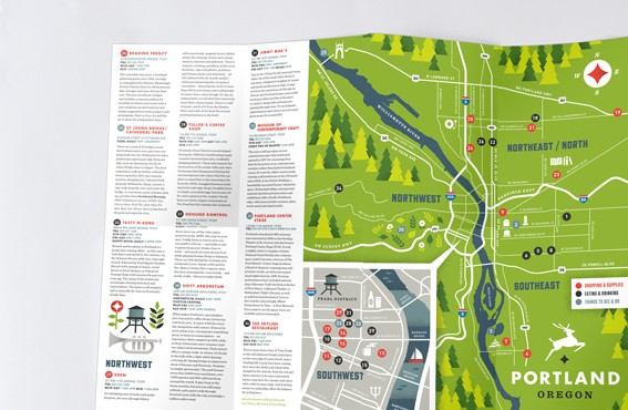 Multi Page Leaflet Printing Map And Cross Fold Leaflets