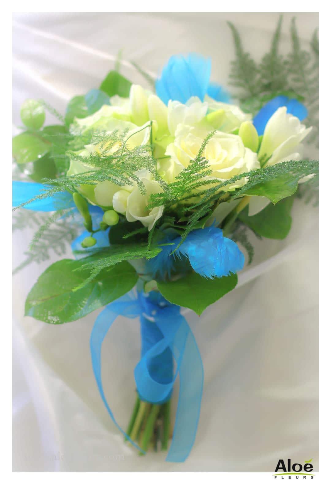 Une dcoration de mariage originaleIl fallait oser le turquoise