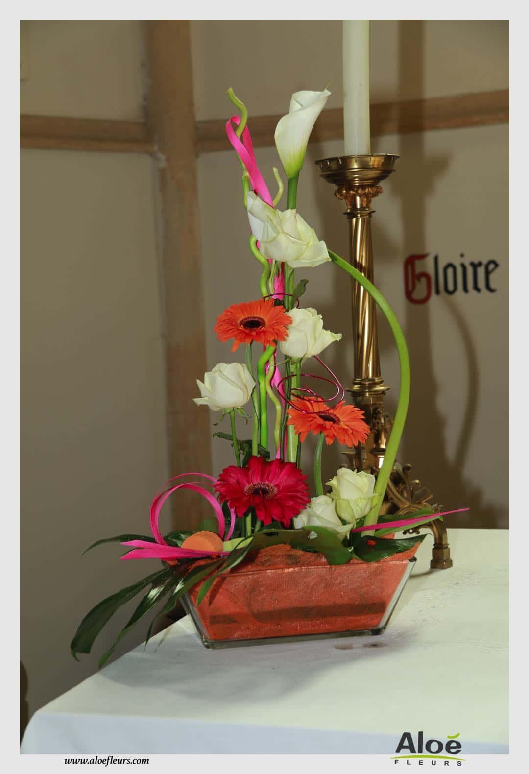 dcoration florale dglise  ALOE FLEURS