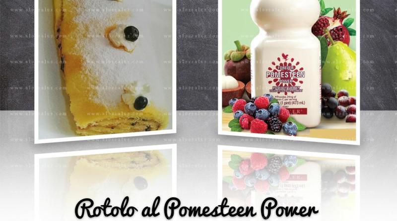 Rotolo al Pomesteen Power farcito con ricotta e frutti di bosco