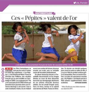le parisien - ces pepites valent de l'or - Les Pepites - un film de Xavier de Lauzanne
