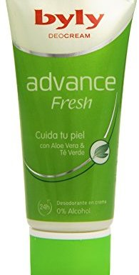 Byly – DeoCream Advance Fresh 24h – Desodorante en crema con Aloe Vera & Té Verde – 50 ml