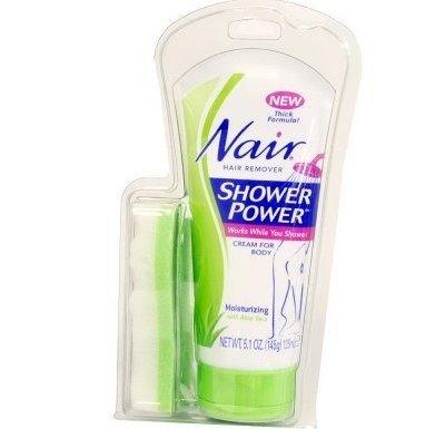 Nair Moisturizing Shower Power Hair Removal Cream with Aloe Vera-5.1 oz by Nair en oferta