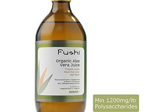 Fushi Aloe Vera Fresh Juice Organic 500ml, Min 1200mg/ltr polysaccharides