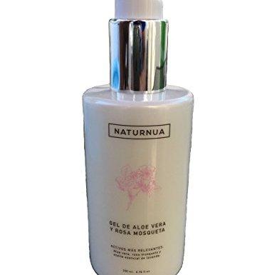 Crema gel de aloe vera y rosa mosqueta natural aceite esencial de lavanda/after sun contra quemaduras depilacion laser irritaciones y cicatrices.