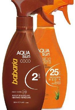babaria Protección Solar Spray Aqua Aloe Vera LSF 25300ml & Bronceado Spray Aqua Cocos LSF 2300ml