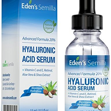 Ácido Hialurónico Serum – 15ml – Es el mejor anti-edad hidradante para el cutis. Ayuda a reducir las arrugas faciales. Contiene Vitamina C, Retinol, y Vitamina E. Proteccíon antioxidante que facilita la producción natural de colágeno que hara su piel mas radiante, suave y saludable