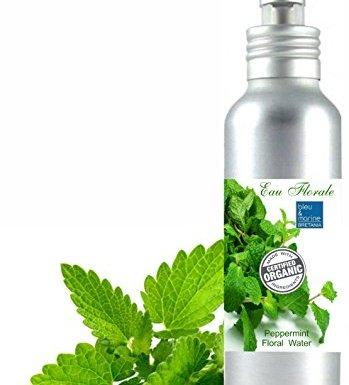 Hidrolato de Menta Piperita Ecológico Agua Floral Bio 100% Natural (100 ml spray) Loción Orgánica Piel Grasa Piel con Imperfecciones