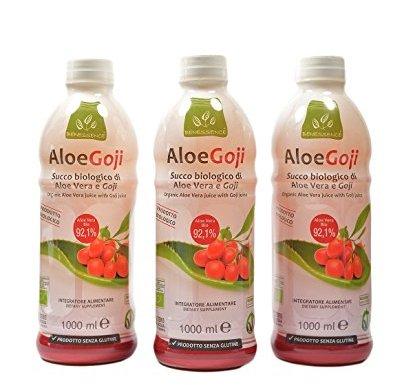 Oferta 3 Zumo de beber biológico de Aloe Vera y Goji – 3 litri