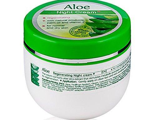 Aloe Vera Crema Hidratante y Regenerativa de Noche Piel Seca y Normal