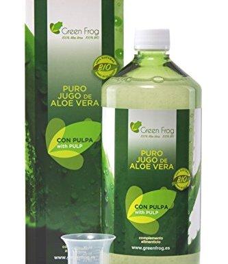 Green Frog. Jugo de Aloe Vera ecológico con pulpa. 100% Fresco y Natural. 1L