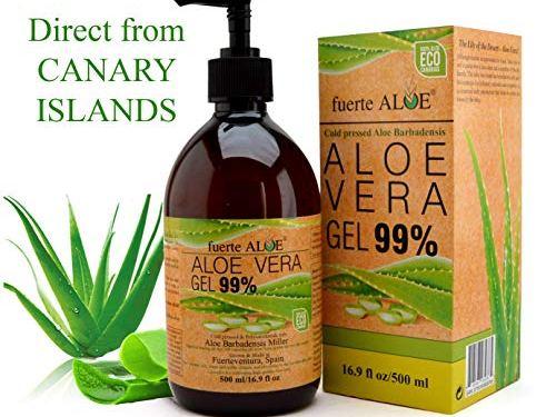 fuerte ALOE Aloe Vera Gel 100% Organico puro (500 ml)