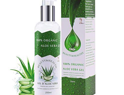 Vsadey Aloe Vera Gel Puro 100% Natural Orgánico – Facial y Corporal Hidratante para la Piel Crema de Aloe Vera 100% Orgánica Exfoliación Facial Sun Peel Off Máscara 250ml