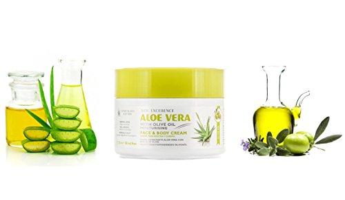 Cremas faciales y corporales de aloe vera – Jabones de glicerina (Crema Aloe Vera y Aceite De Oliva, 300ml)