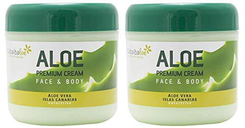 Tabaibaloe Premium Crema de Aloe Vera para cara y cuerpo 300 ml x 2 unidades