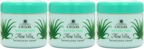 Tres paquetes de Cyclax Aloe Vera Revitalizante crema 300ml