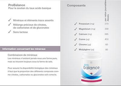 ProBalance, le soutien du taux acido-basique