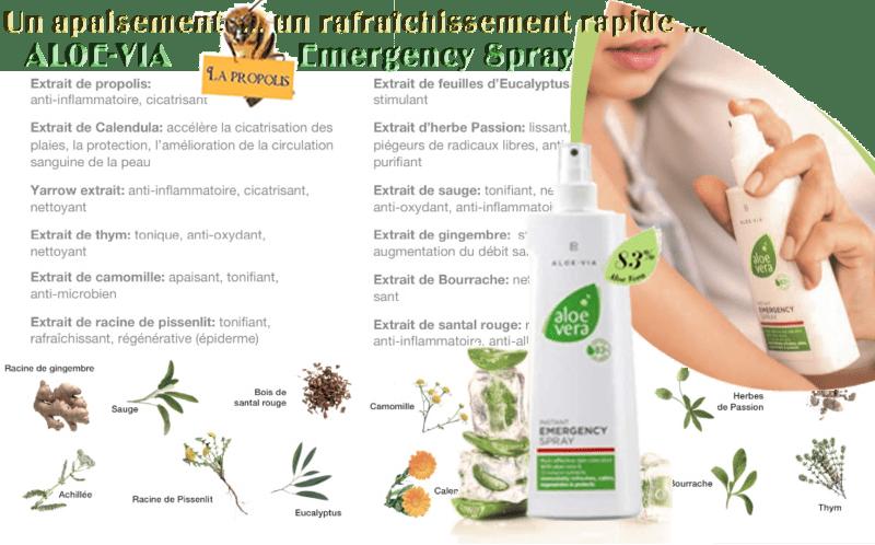 Emergency Spray Aloe-Via un soin Aloe Vera aux extraits de 12 essences bios pour les peaux irritées !