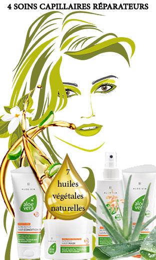 Nutri-Repair 4 soins capillaires réparareurs pour cheveux secs ou abîmés