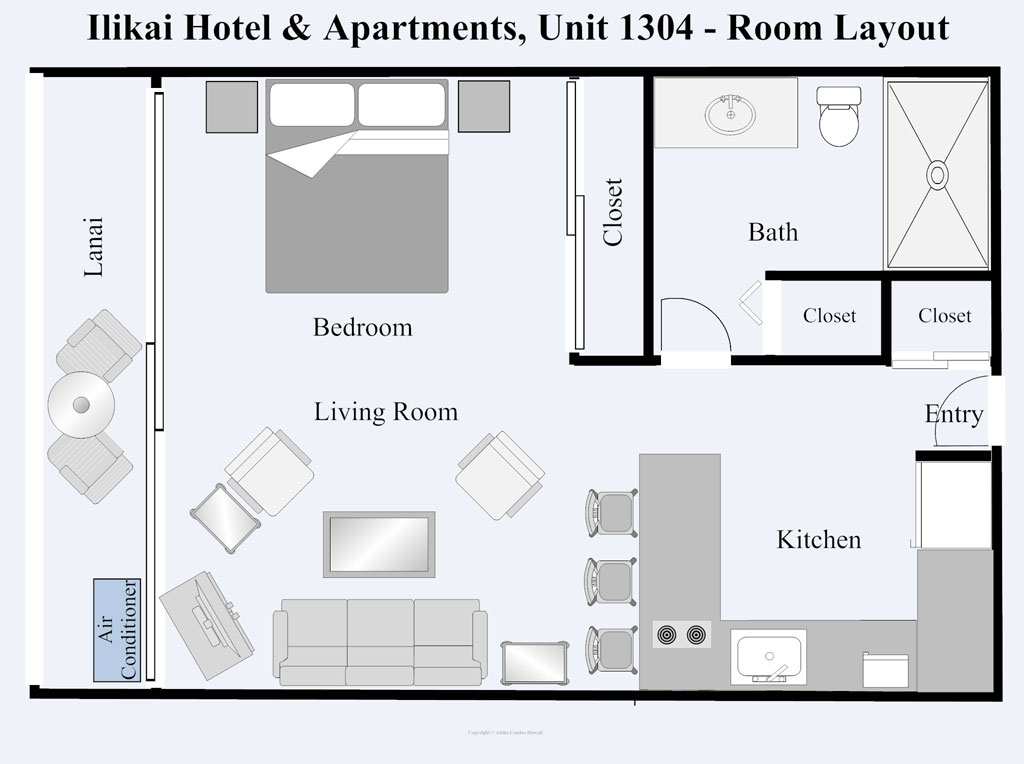 Ilikai Hotel Condo 1304  1 Bedroom Ocean View Condo Oahu