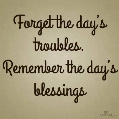 remember today's blessings