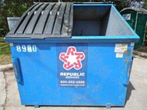 海外にいくと大きなコンテナをみたことありませんか・これが海外でのゴミ捨て場です。