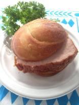 Leberkaese in a roll