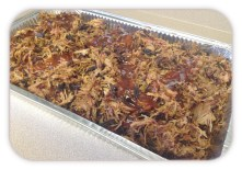 Pan of Pulled Pork for Catering
