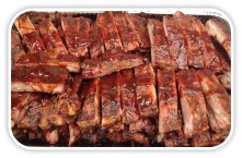 Pan of Smoked Ribs