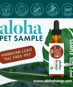 Aloha Hemp Hawaiian Luau Pet CBD Sample