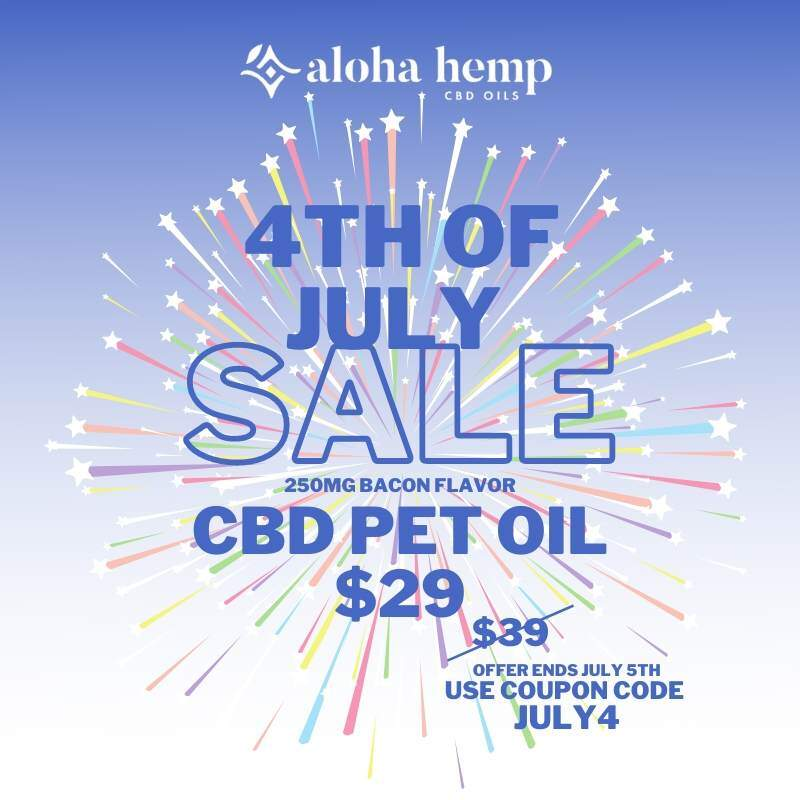 4th of July Sale - Blue Background