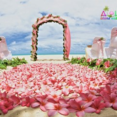 Wedding Chair Covers Hawaii Fisher Price Laugh Learn Beach Weddings Custom Designed Alters On Oahu