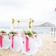 Wedding Chair Covers Hawaii Knoll Handkerchief Beach Weddings Custom Designed Alters On Oahu