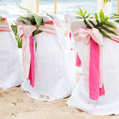Hawaiian Chair Covers Plastic Rocking Cover For Wedding In Hawaii Fern On The Back Of Chairs