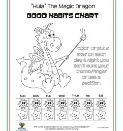 we ve developed several good habits charts for your use click here for a pdf version of hula the magic dragon aloha bear or fish as shown below  [ 1700 x 2200 Pixel ]