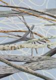 Barriere / Barrier, Öl auf Leinwand, 200 x 140 cm