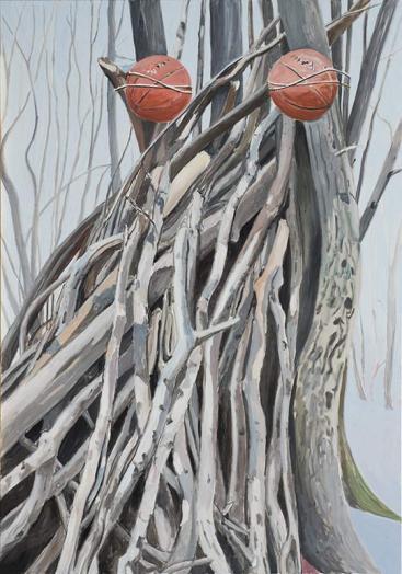 Augenbild / Eye Picture, Öl auf Leinwand, 200 x 140 cm