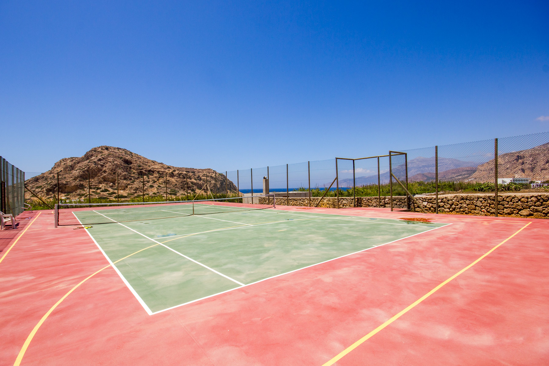 Tennis tournaments  courts in Karpathos Island Greece
