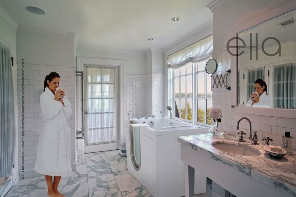 Walk-In Tub with Shower and Bathroom