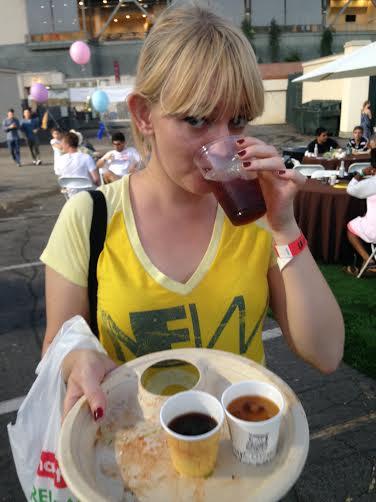 Coffee tasting at The LA Street Food Fest.