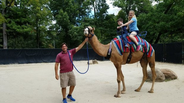 I am riding a camel, in Tennessee! Photo: Michael Farah.