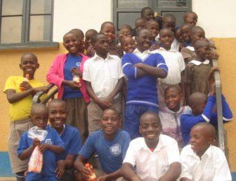 Joyful moment of school children